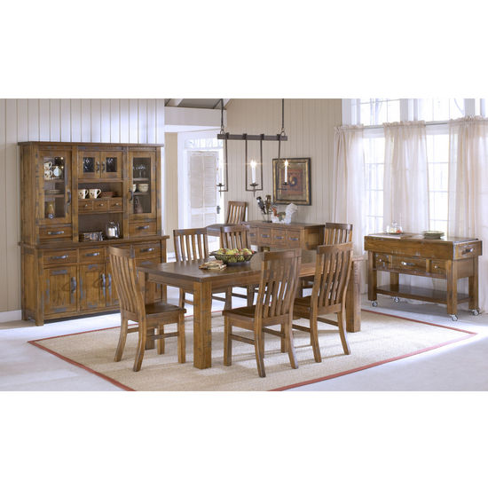 Outback 7-Piece Dining Set, Distressed Chestnut