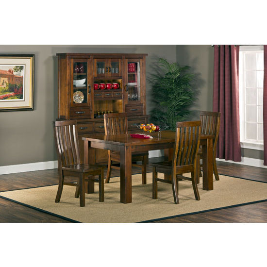 Outback 5pc Dining Set - Table with Leaf, Distressed Chestnut