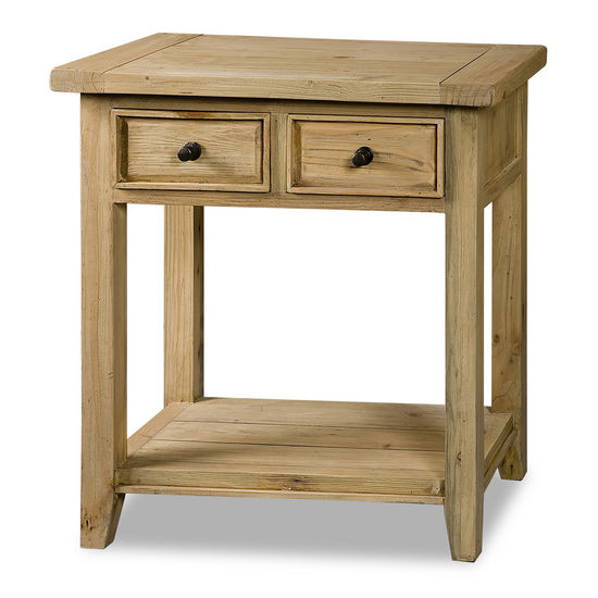 Tuscan Retreat 2 Drawer Hall/Console Table,Light Weathered Pine