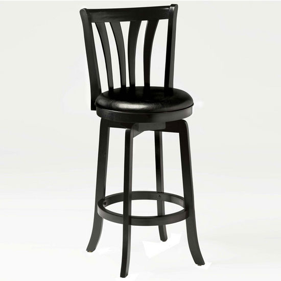 Hillsdale Furniture Savana Swivel Stool in Black
