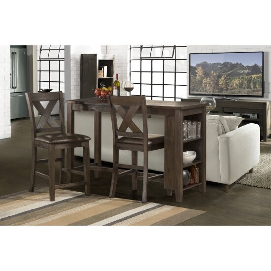 3-Piece Set w/ X-Back Stools