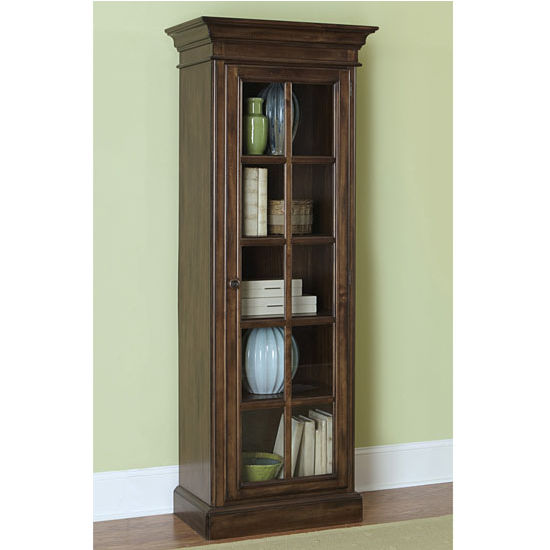 "Hillsdale Furniture Pine Island Small Library Cabinet, Dark Pine Finish, 27-7/8"" W x 18-1/4"" D x 75-3/8"" H"