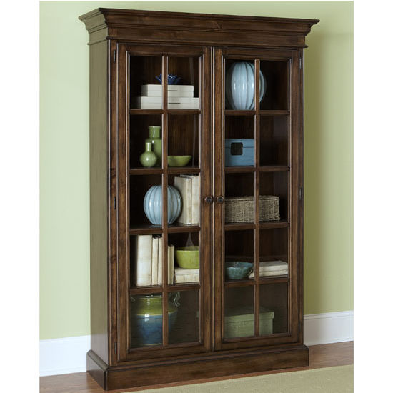 "Hillsdale Furniture Pine Island Large Library Cabinet, Dark Pine Finish, 48"" W x 18-1/4"" D x 75-3/8"" H"