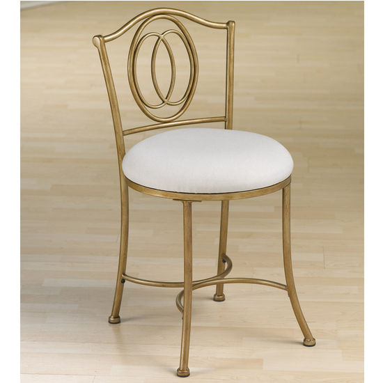 "Hillsdale Furniture Emerson Vanity Stool, Golden Bronze, 20""W x 16""D x 31""H"