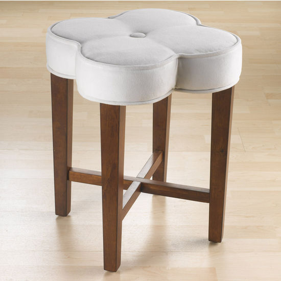 "Hillsdale Furniture Clover Vanity Stool, Cherry, 18""W x 18""D x 20-1/2""H"