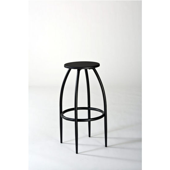 Bowen Backless Adjustable Bar Stool w/Nested Leg, Black