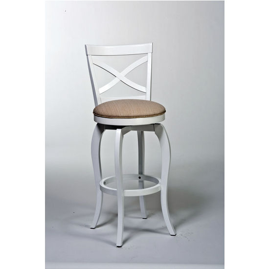 Ellendale Swivel Counter Stool, White