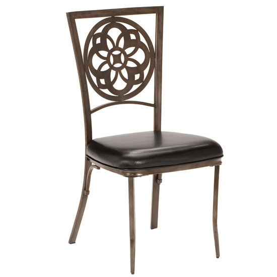 "Hillsdale Furniture Marsala Dining Chair, Set of 2, Gray with Brown Rub & Black Finish, 22-3/10"" W x 18-4/7"" D x 39"" H"