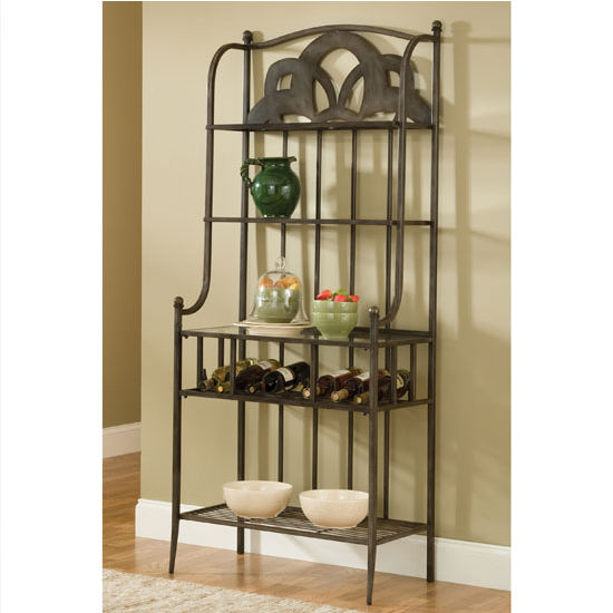 "Hillsdale Furniture Marsala Baker's Rack (Small Center Design), Gray with Brown Rub Finish, 30"" W x 16"" D x 70-1/2"" H"