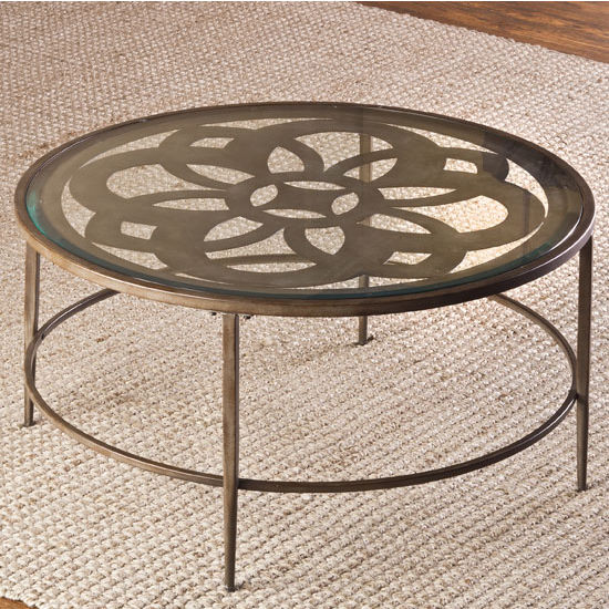 "Hillsdale Furniture Marsala Coffee Table, Glass Finish, 36"" W x 36"" D x 18"" H"