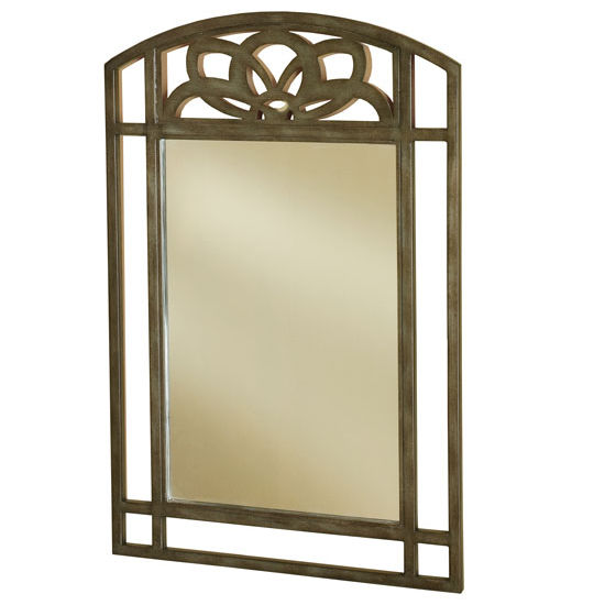 "Hillsdale Furniture Marsala Console Mirror, Gray with Brown Rub/ Glass Finish, 24"" W x "" D x 36"" H"