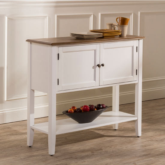 "Hillsdale Furniture Bayberry / Embassy Server in White, 42-1/4"" W x 15-1/4"" D x 37"" H"