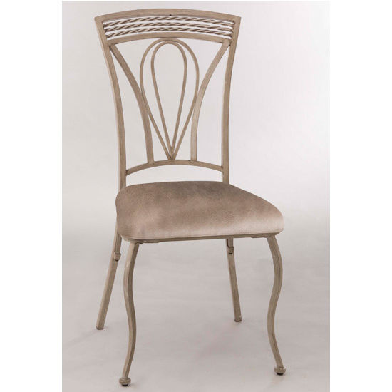Hillsdale Furniture Napier Dining Chair, Set of 2, Aged Ivory & Taupe PU Faux Leather