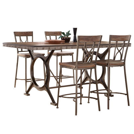 Dining Furniture Paddock 5 Piece Or 7 Piece Counter Height Dining Table Sets