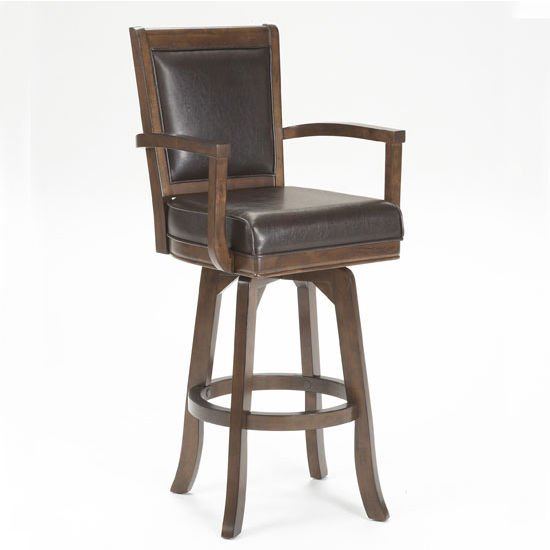 "Hillsdale Furniture Ambassador Counter Stool, Rich Cherry & Brown Finish, 23"" W x 22"" D x 42-1/4"" H"