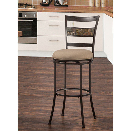 Hillsdale Henning Indoor / Outdoor Swivel Stool, Midnight Mocha Finish