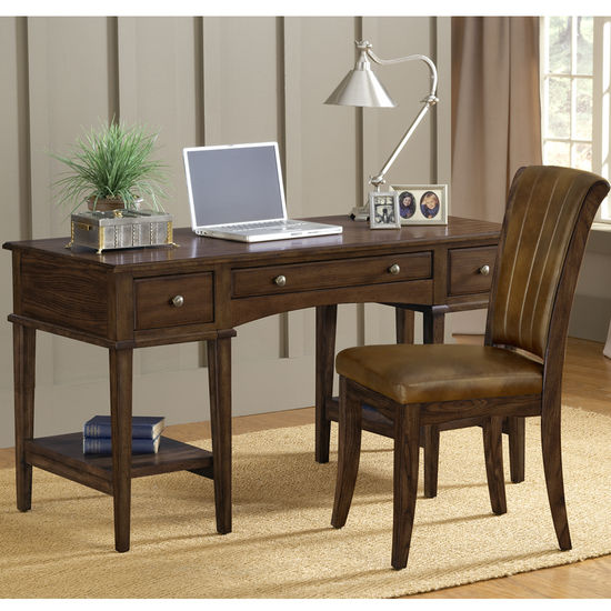 Hillsdale Gresham Desk & Grand Bay Chair, Cherry