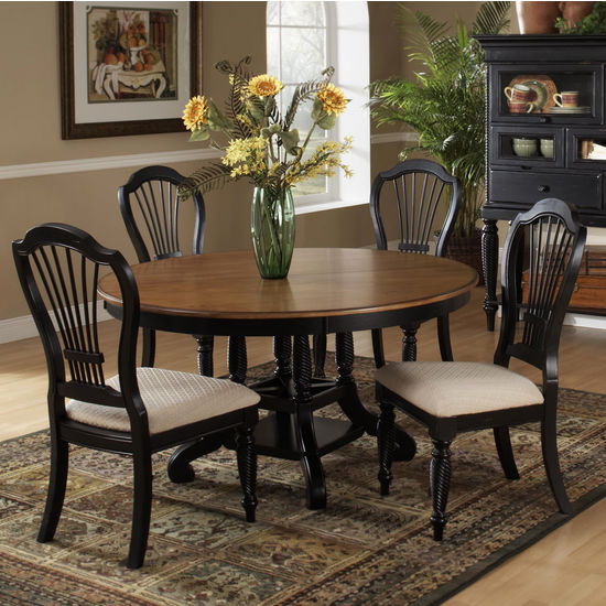 View Larger Image. Shown Here in 5-Piece Set & Home Furnishings - Wilshire Round/Oval Table Dining Sets Available ...