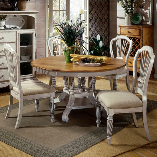 Home Furnishings Wilshire Round Oval Table Dining Sets Available In A 5 Pie