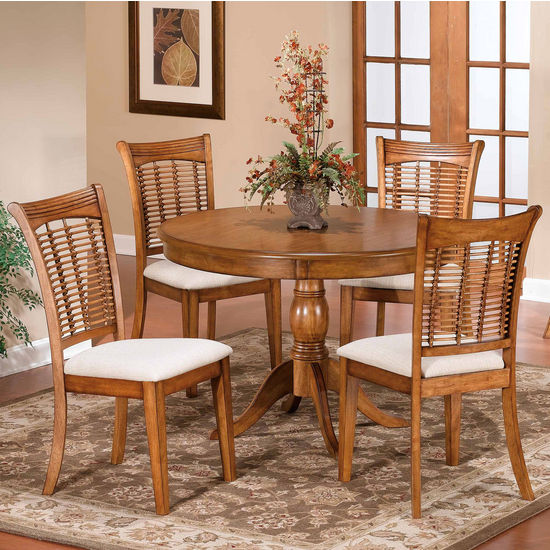 5-Piece Round Pedestal Dining Set