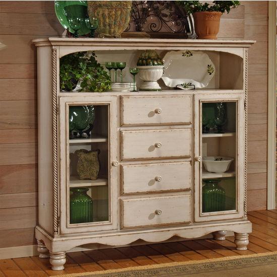 Wilshire Four Drawer Baker's Cabinet Antique White