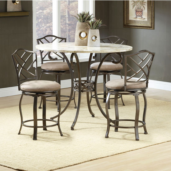 Brookside Round 5-Piece Counter Height Dining Sets by Hillsdale Furniture