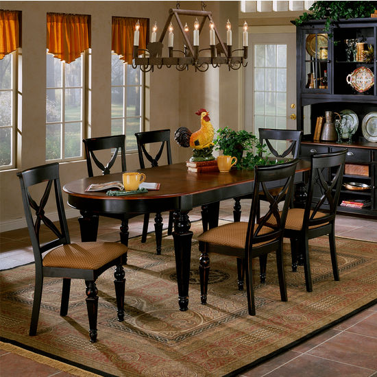 Oval Hardwood Dining Set - Northern Heights Oval Dining Table Set by ...