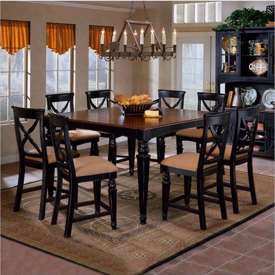 5-Piece & 9-Piece Northern Heights Counter Height Dining Sets by Hillsdale Furniture