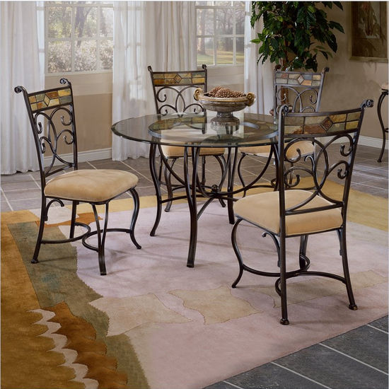 Pompei 5-Piece Dining Set by Hillsdale Furniture
