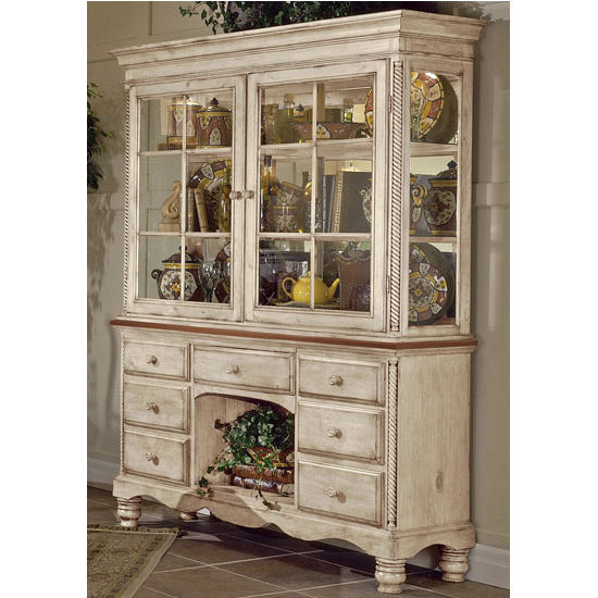 Antique White Wilshire Buffet & Hutch by Hillsdale Furniture