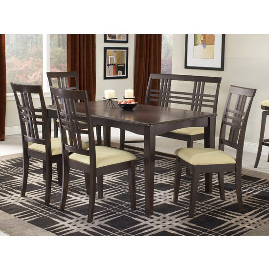 Tiburon Espresso 6-Piece Dining Set by Hillsdale Furniture