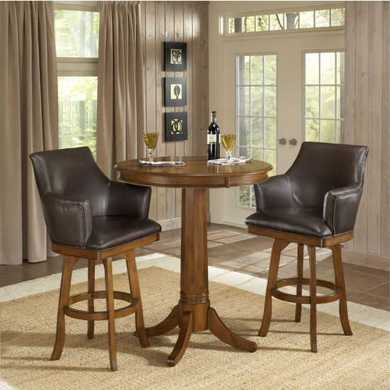 Park View 3-Piece Bar Set (Pub Table & 2 Bar Stools) by Hillsdale Furniture