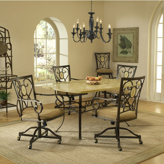 5-Piece & 7-Piece Brookside Rectangle Dining Set by Hillsdale Furniture