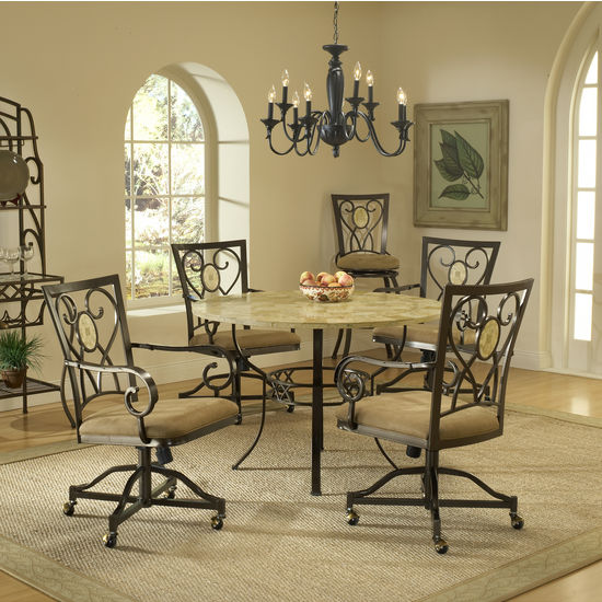 5-Piece Brookside Round Dining Set by Hillsdale Furniture