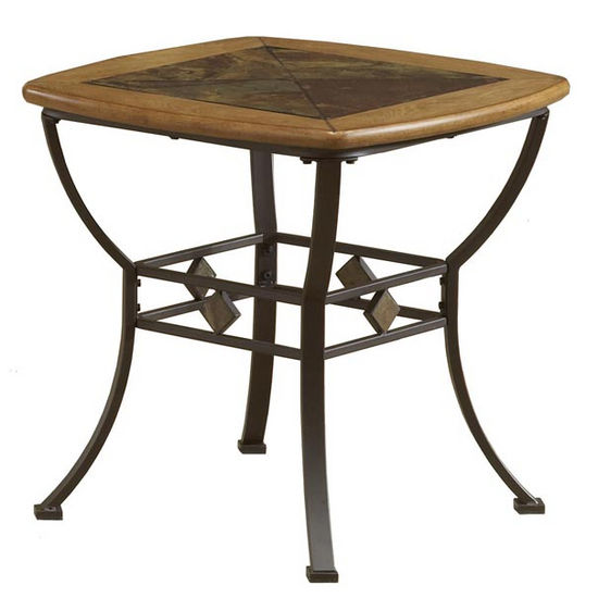 Lakeview End Table w/Slate Top