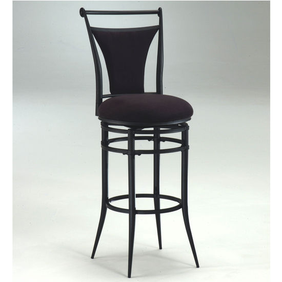 Hillsdale Furniture Cierra Swivel Counter or Bar Height Stool - Black Fabric