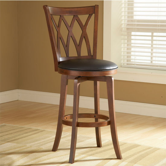 Hillsdale Furniture Mansfield Wood Swivel Counter Stool