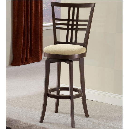 Hillsdale Furniture Tiburon II Swivel Counter or Bar Height Stool w/ Ivory Seat