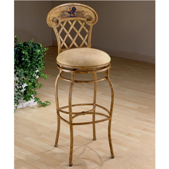 Hillsdale Swivel Rooster Bar Height Stool