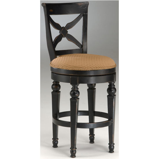 Hillsdale - Northern Heights Swivel Counter or Bar Height Stool, Black/Honey