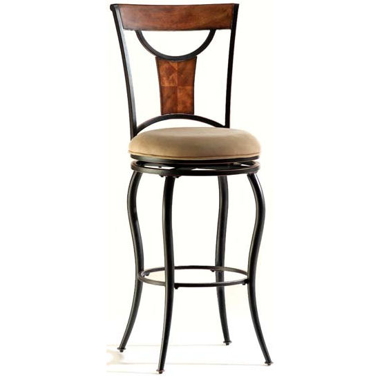 Hillsdale - Pacifico Swivel Counter or Bar Height Stool, Black