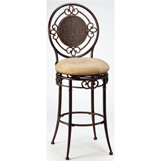 Hillsdale - Richland Swivel Counter or Bar Height Stool, Black Gold