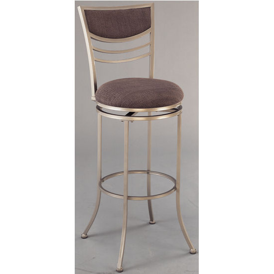 Hillsdale - Amherst Swivel Counter or Bar Height Stool, Champagne