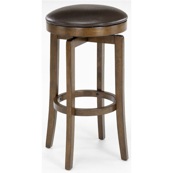 Hillsdale - Brendan Backless Counter or Bar Height Stool, Brown Cherry