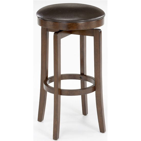 Hillsdale - O'Shea Backless Counter or Bar Height Stool, Brown Cherry