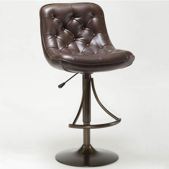 Aspen Adjustable Swivel Bar Stools with Faux Leather Seats by Hillsdale Furniture