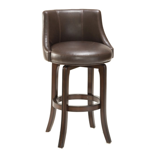 Bar Stools Napa Valley Swivel Stools Brown Leather By