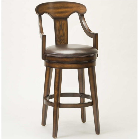 Hillsdale Upton Swivel Stool, Rustic Oak