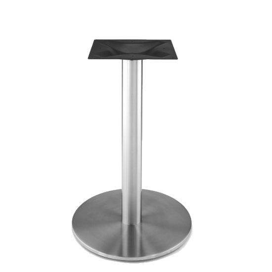 round ri htm metal disk table rfl steel in base pedestal stainless bases steelbase by
