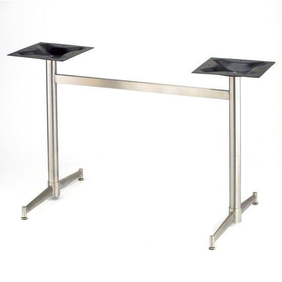"Steelbase Turin Trestle Table Base, 22"" x 36"", Stainless Steel"